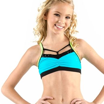California Kisses COLOR BLOCK CAMISOLE BRA TOP - Dancewear