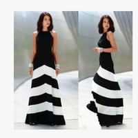 ONETOW Fashion Prom Dress Ladies Sexy Sleeveless Backless Maxi Dress Formal Evening Party Date Cocktail Ball Gown Dress Bridesmaid Dress