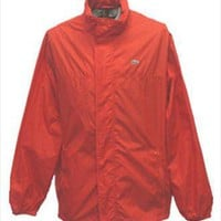 Lacoste Red Vintage Windbreaker Jacket