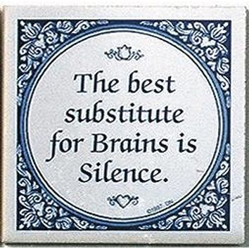 Inspirational Wall Plaque: Substitute For Brains..