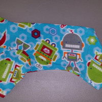 Robot dog fleece pajama. Size small. Machine washable and open underneath for potty and #2 breaks.