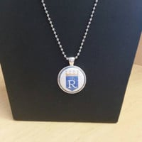 KC Royals with Crown Pendant Necklace