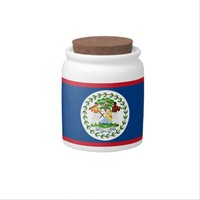 Belize Flag Candy Jar