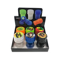 Air Tight Rasta Container w/ Grinder