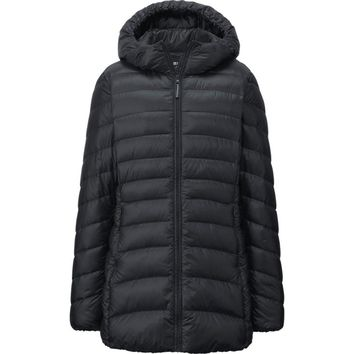 WOMEN WATER DEFENDER ULTRA LIGHT DOWN HOODED SHORT COAT | UNIQLO