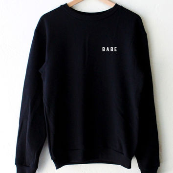 Babe Oversized Sweater - Black