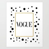 Vogue Print Vogue Poster Vogue Illustration Fashionista Fashion Print Gift Women For Her Fashion Art Art Print by MichelTypography