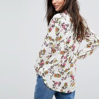 Warehouse Floral Print Shirt at asos.com
