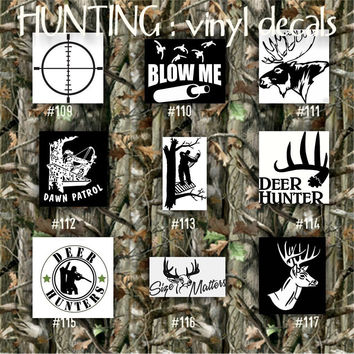 HUNTING vinyl decals - 109-117 - car stickers - outdoor - nature - vinyl sticker
