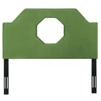 Noctis Queen Headboard in Green Velvet