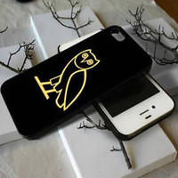 Top Drake Owl OVO2018Gold Logo Fit Hard Case For iPhone 6 6s 7 8 Plus X Cover +