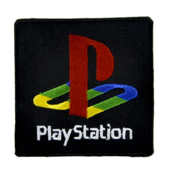 Play Station Patch Iron on Applique Gaming Alternative Clothing …