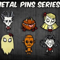 Don't Starve Metal Character Pins – Series 1 – Klei Store