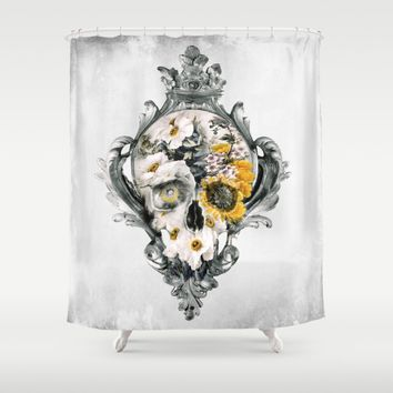 Skull Still Life Shower Curtain by RIZA PEKER