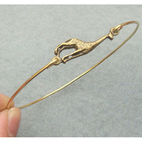 Cute Giraffe Bangle Bracelet on Luulla