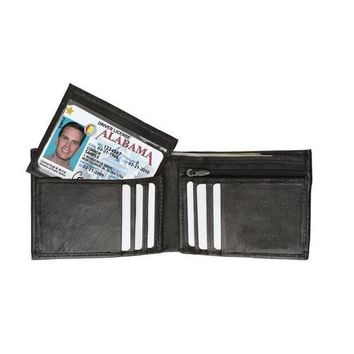 AFONiE Leather Bi-fold Wallet For Men with Handy Removable Compartment