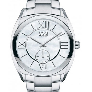 ESQ Movado Ladies Origin Watch - Stainless Steel- Mother of Pearl Dial