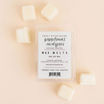 Peppermint and Eucalyptus Soy Wax Melts