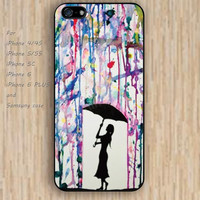 iPhone 5s 6 case watercolor Umbrella waiting colorful phone case iphone case,ipod case,samsung galaxy case available plastic rubber case waterproof B546