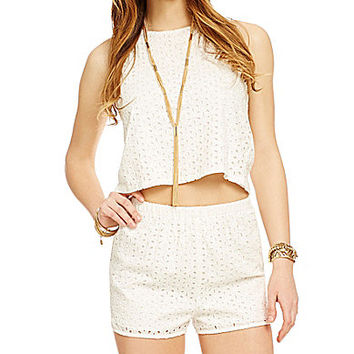 GB Eyelet Lace Top - Off White