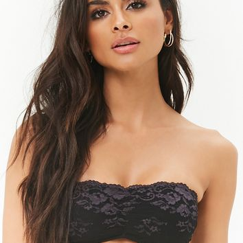 Strappy Scalloped Lace Bandeau
