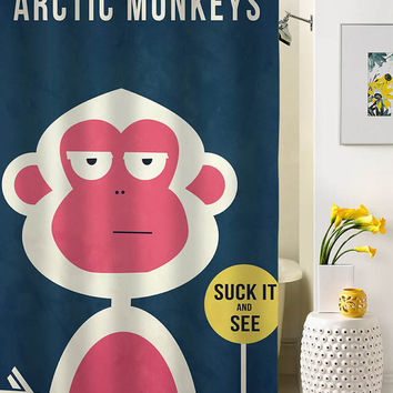 arctic monkey suck it and see shower curtain special custom shower curtains that will make your bathroom adorable