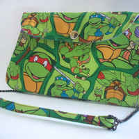 TMNT Clutch Purse with Chain Strap / Teenage Mutant Ninja Turtles