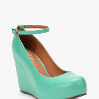 Jeffrey Campbell Leather Adelaide Wedge