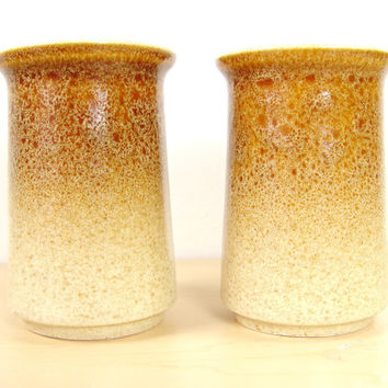 Hearthside Salt & Pepper Shakers - Ceramic Splatter Stoneware - Made in Japan - Garden Festival Pattern