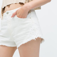 Combined crochet short