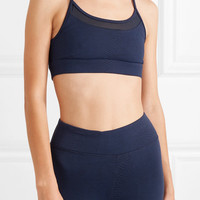 Koral - Pacifica mesh-trimmed stretch jacquard-knit sports bra