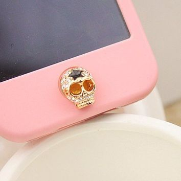 Skull Home Button Sticker for iPhone 4,4s,5