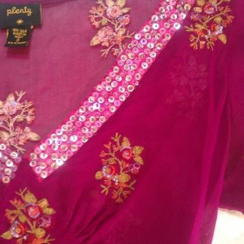 Silk Embroidered Blouse  (Plenty by Tracy Reese)