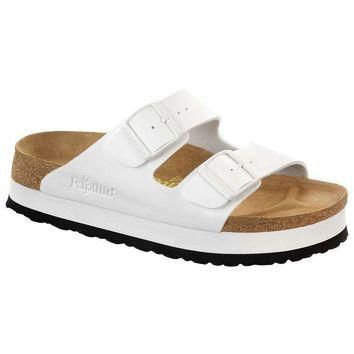 Sale Birkenstock Arizona Birko Flor White 364053 Sandals