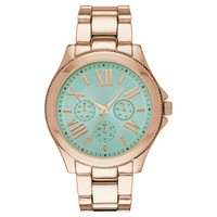 Women's Mossimo Bracelet Watch with Decorative Subdials - RoseGold/Green