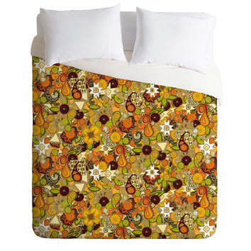 Sharon Turner Mulled Zest Paisley Duvet Cover
