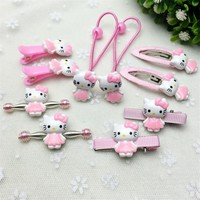 Fashion New Hair Accessories Cat Kitty Christmas Gift Girl Hair Clip Lady Headband Bow Hairpins Box Jewelry Kids Cute Ring Gum