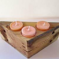 Wood Candle Holder, Rustic Candle Holder, Candle Holder, Unique Candle Holders, Candle and Holder