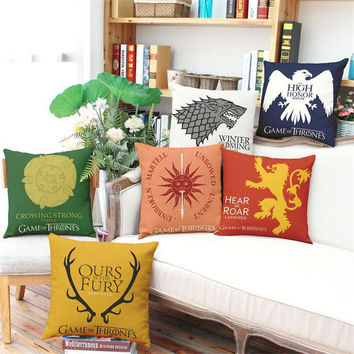 Game of Thrones A Song of Ice and Fire Cushion Home Decor without inner Sofa Chair Seat Decorative Throw Pillow almofada cojines
