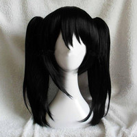 Love Live LoveLive Yazawa Niko Nico double horsetail short black anime cosplay wig hair Heat resistance fibre free shipping