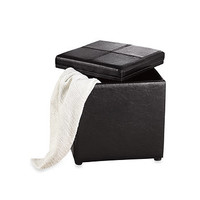 Storage Ottoman with Removable Tablet Tray