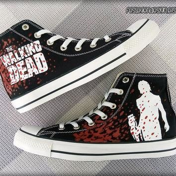 The Walking Dead 'Daryl Dixon' Custom Converse / Painted Shoes