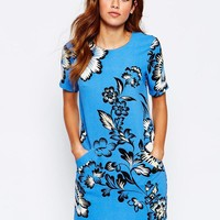 Warehouse | Warehouse Printed T-shirt Dress at ASOS