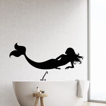 Vinyl Wall Decal Silhouette Naked Mermaid Fantastic Beast Stickers (2818ig)