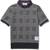 Thom Browne - Printed Cotton-Jersey Polo Shirt | MR PORTER