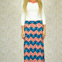 Color Your Own Chevron Maxi Skirt
