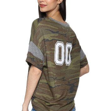 JET x Mixology 00 Camo Printed Football Tee