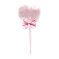 Shimmer Puffs: Pink Heart Puff with Pink Bow