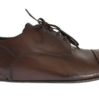 Dolce & Gabbana Brown Leather Laceup Dress Formal Shoes