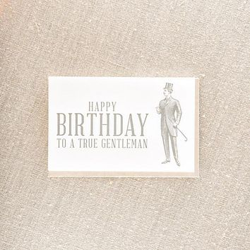Birthday Gentleman Card